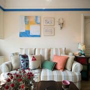 混搭风格多色沙发装饰