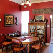 东南亚风格餐厅原木桌椅装饰
