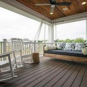 美式简约风格阳台吊椅装饰