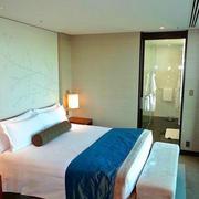 后现代风格简约宾馆床头背景墙