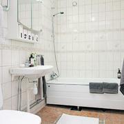 北欧风格纯色浴室装饰