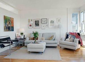 美式简约风格客厅沙发装饰
