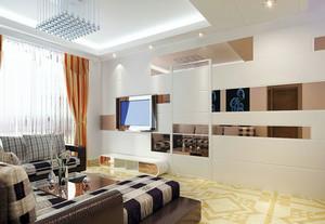 现代简约风格客厅隐形门装饰