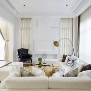 都市简约风格别墅客厅沙发装饰