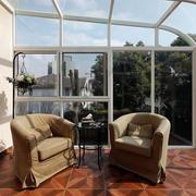 别墅阳台沙发装饰