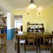 地中海风格复式楼餐桌装饰