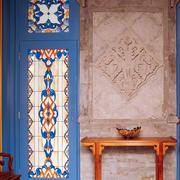 四合院欧式花纹背景墙装饰