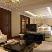 欧式酒店卧室床头背景墙