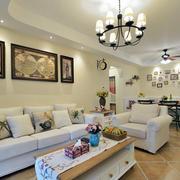地中海风格客厅沙发装饰