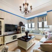 欧式简约风格客厅沙发装饰