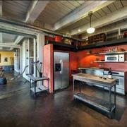 混搭风格厨房置物架装饰