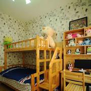 儿童房原木风格床饰效果图