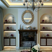 现代化美式壁炉装饰
