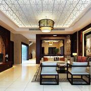 中式风格客厅密集式吊顶
