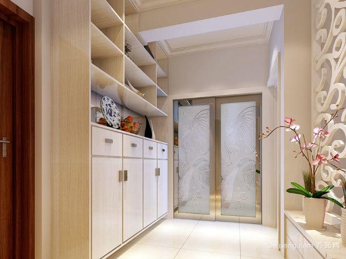120平米现代简约风格客厅进门鞋柜装修效果图