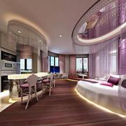 欧式清新风格酒店卧室装饰
