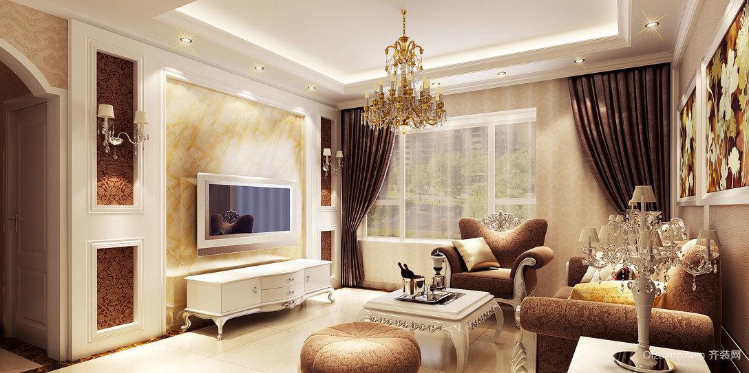 如水一样清澈的客厅飘窗装修效果图