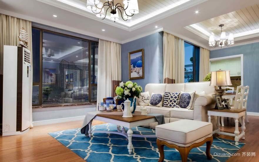 遨游大海:地中海风格120平米大户型家庭装修效果图片