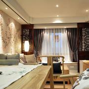 中式家装客厅飘窗装饰