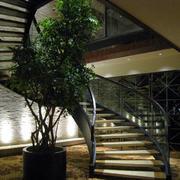 后现代风格别墅螺旋式楼梯