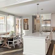 纯色混搭风格厨房吊顶装饰