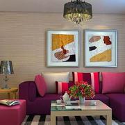 新房混搭风格沙发背景墙
