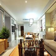 中式家装沙发背景墙