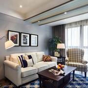 复式楼简约客厅沙发装饰