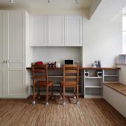 小户型客厅整体原木地板效果图