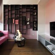后现代风格公寓电视背景墙
