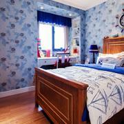 地中海风格原木卧室设计