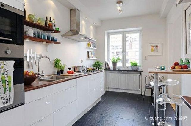 50平米北欧风格简约淡雅厨房装修效果图