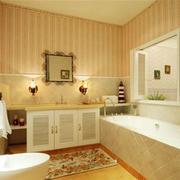 欧式简约风格卫浴柜装饰