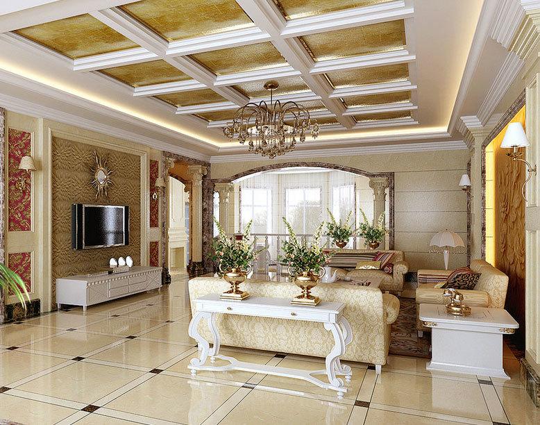 淡妆浓抹总相宜:三室二厅简欧风格客厅装修效果图鉴赏