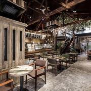 美式简约复古咖啡厅设计