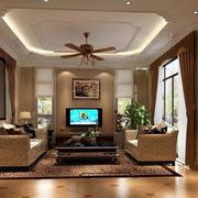 东南亚风格石膏板吊顶设计