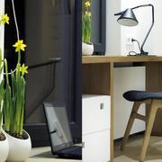 复式楼书房桌椅装饰