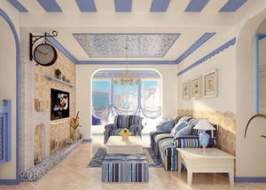 给您舒适的感受:畅然轻快的地中海风格客厅装修效果图鉴赏