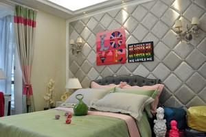 亮丽的别墅卧室背景墙装修效果图