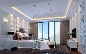 欧式卧室软包床头装饰