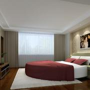 卧室田园风格圆形床装饰