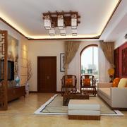 90平米房屋中式客厅装饰