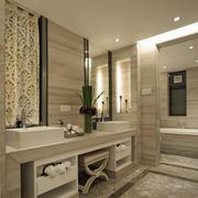 别墅大型卫生间镜饰装饰
