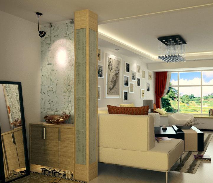 气氛优雅、造型独特的欧式客厅玄关鞋柜装修效果图鉴赏