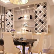 欧式简约风格客厅酒柜装饰
