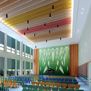 幼儿园大型教室灯饰装饰