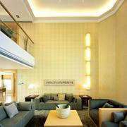简约风格婚房客厅沙发装饰