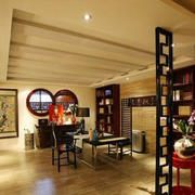 中式客厅石膏板吊顶装饰