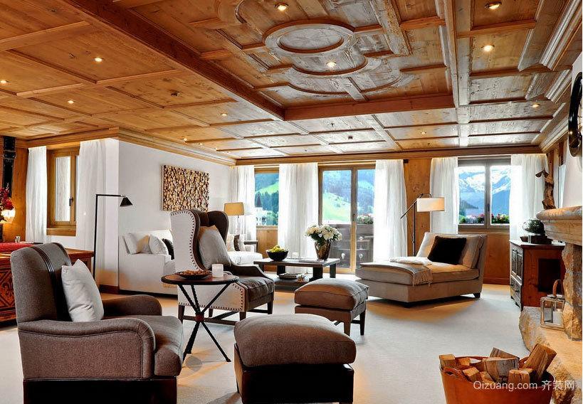 风格迥异的室内吊顶装修效果图