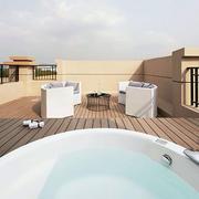 别墅高层浴缸装饰效果图